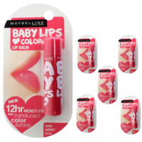 6pcs Maybelline 4g Baby Lips Lip Balm Spf20 12 Hour Moisture - Rose Addict