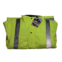 HUSKI Grader Waterproof Hi Vis 2-in-1 Jacket 3M Reflective Tape Visibility - XL (107) Yellow