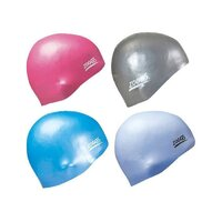 Zoggs Easy Fit Silicone Swim Cap Swimming Silicone Hat - Solid Assorted Colours