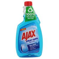 Ajax Spray n' Wipe Triple Action Glass Cleaner Refill 500mL