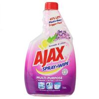 AJAX 750mL SPRAY N WIPE REFILL MULTI PURPOSE LAVENDER & CITRUS