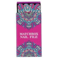 INDULGE PK12 MATCHBOX NAIL FILE