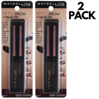 Maybelline 5ml Eyebrow Tattoo Brow Gel Tint Dark Brown - 2pcs