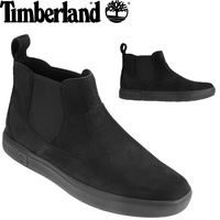 TIMBERLAND Men's Amherst Chelsea Boots Pull On Shoes Leather - Black