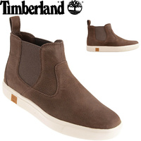 TIMBERLAND Men's Amherst Chelsea Boots Pull On Shoes Leather - Dark Brown