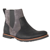 TIMBERLAND Men's Kendrick Chelsea Boots Pull On Shoes with Zip - Black