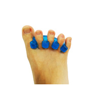 1 Pair Axign Wide 5 Toe Based Separator Medical Silicone Bunion Pain Relief Spacer