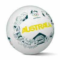 Summit Soccer Ball Football AOC Australian Olympics Iconic Game Size 5