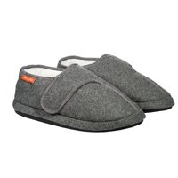 ARCHLINE Orthotic Plus Slippers Closed Scuffs Pain Relief Moccasins - Grey Marle