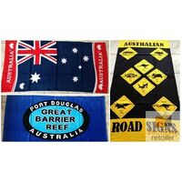 AUSTRALIA Souvenir BEACH TOWEL 100% Cotton Australian Flag 150cm x 75cm New