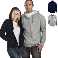 Adult Unisex Detroit Zip Up Fleece Hoodie Jacket Jumper Basic Blank Plain Cotton