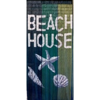 Deluxe Bamboo Door Curtain BEACH HOUSE Room Divider or Wall Art 90cm x 200cm