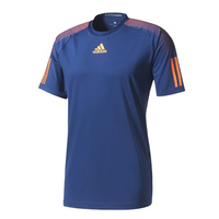 Adidas Boys Barricade T-Shirt Blue Orange Tee Top Tennis Sports Athletic