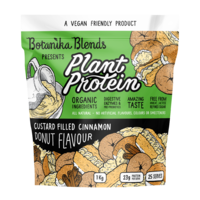 1kg BOTANIKA BLENDS Organic Plant Protein Vegan Friendly - Custard Cinnamon Donut