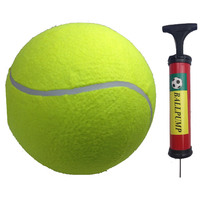 "10"" GIANT TENNIS BALL with BALL PUMP Air Inflator for Autographs Signatures New"