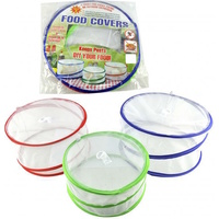 3pcs POP UP FOOD COVERS Camping Picnic BBQ Kitchen Insect Protectors Food Net