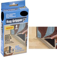 8x RUG GRIPPERS Non Slip Reusable Carpet Mat Gripper Anti Skid Washable Grip New