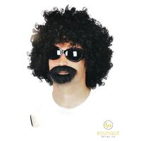 Deluxe AFRO MAN KIT Wig Glasses Beard Costume Party Funky 70s New