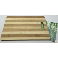 Bamboo Cutting Chopping Board Natural Wooden Slicing Kitchen Platter 25 x 16cm