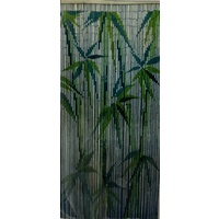 Deluxe Handmade Bamboo Door Curtain BAMBOO LEAVES Room Divider New Strands 90cm x 200cm