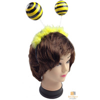 BUMBLE BEE HEADBAND Headdress Yellow Bird Costume Accessory Bumble Head Band