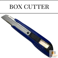 BOX CUTTER Knife Retractable Blade Snap Off Razor 18mm Durable Slide Opener New