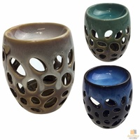 Ceramic Round Oil Burner with Modern Design for Aromatherapy Oil & Wax Melts New