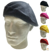 Unisex FRENCH BERET HAT Newsboy Military Cap Winter Warm Army Style Beanie New