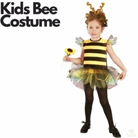 Girls BUMBLE BEE Kids Costume Fancy Dress Halloween Wasp Insect Outfit Toddler