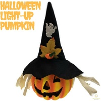 Deluxe LIGHT UP PUMPKIN Halloween Party Decor Lantern Decoration LEDE