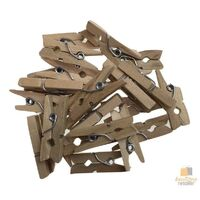 50pcs MINI WOODEN PEGS Natural Craft Baby Shower Clothes Pin Scrapbook BULK 25mm