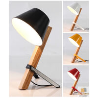 Modern TABLE LAMP Wooden Rustic Retro Designer Vintage Industrial Light New