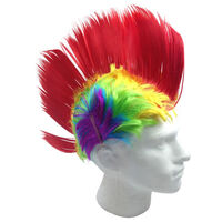 Rainbow MOHAWK WIG 70s 80s Rock Punk Hair Costume Mohican Rooster Wig Fancy New