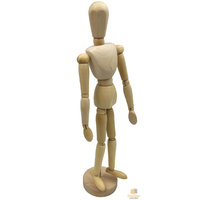"12"" Wooden Artists Male Mannequin Doll Sketch Draw Art Drawing Manikin Toy Model"