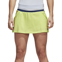 Adidas Women's Skirt Sports Training Slim Fit Tennis Club Climalite -Frozen Yellow