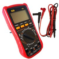 Digital Multimeter Tester Voltage Resistance Ohms Amps YI-58L - Batteries Incl.