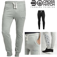 CROSSHATCH Leeroy Skinny Track Pants Slim Trousers Cotton Gym Trackies Joggers