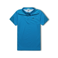 Adidas Boys Adizero Polo Solar Blue Climachill Top Tennis Golf Sports Athletic