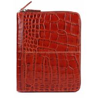 DENTS Crocodile Print Premium Leather Case for Apple iPad 2 Cover Zip Secure New