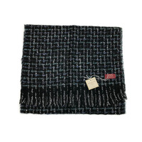 DENTS Windowpane Checked Weave Scarf Wool Blend Winter Warm