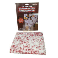 Bloody Gauze Table Cover Cloth Fake Blood Halloween Horror Zombie Party