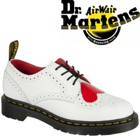 Dr. Martens Joyce Heart Wingtip Genuine Leather Boots Lace Up Shoes Brogue New