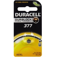 2x DURACELL Pile 377 1.5V Battery Duralock Power Preserve For Watches Toys New