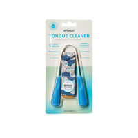 Dr Tung's TONGUE CLEANER Dental Hygiene Stainless Steel Scraper FREE POUCH New
