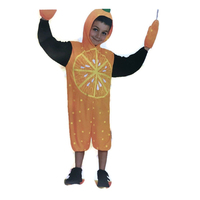 Kids ORANGE FRUIT Costume Fancy Dress Book Week Halloween Childrens New
