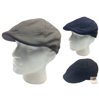 GOORIN BROTHERS Burbank 100% Cotton Flat Cap Bros 103-0387 Driving Hat New