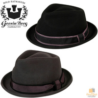 GOORIN BROTHERS Jake Fratelli Glory Trilby Fedora Hat Cap Bros 600-0002 New