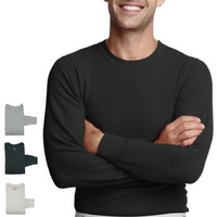 HANES Men's Thermal Crew Neck Cotton Long Sleeve Top X Temp Technology