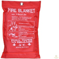 Australian FIRE BLANKET Fibre Glass Safety House Caravan Emergency 1m x 1m