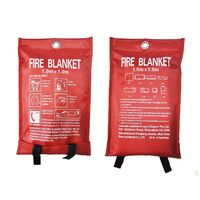2x Australian FIRE BLANKET Fibre Glass Safety House Caravan Emergency 1m x 1m